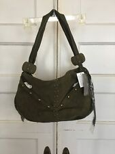 Queen Collection by Queen Latifah shoulder  bag 100% Leather Suede NWT FREE SHIP