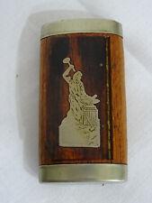 Tabakdose, Tabatiere, Pillendose aus Holz