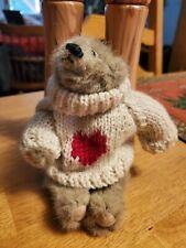 "Boyds Bears Plush Bear With Cute Sweater.6"" Tall"