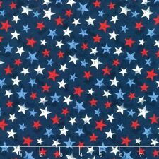 America My Home Fabric #82598-431 Patriotic Stars on Blue Quilt Shop Quality
