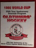 1995 World Cup, Canadian Old Timer's Hockey program, signed 20 year anniversary