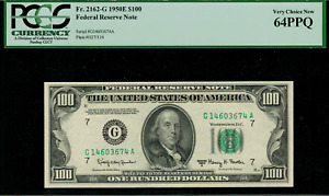1950E $100 Federal Reserve Note - Chicago - FR. 2162-G - Graded PCGS 64PPQ
