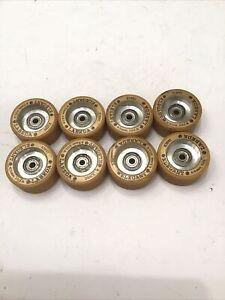Set of 8 Vintage Labeda Elegant Dance 65mm 101A Roller Skate Wheels