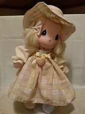 Precious Moments Doll Last Forever by Applause w/ Locket Hat Bows Stand Blonde