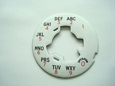 Western Electric telephone  dial plate 164 A laminate #6 and #5 dials