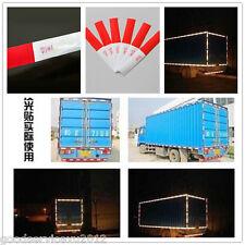 20 Pcs Red & White Car Truck Smart Warning Safety Reflective 3M Strips Sticker