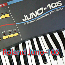 ROLAND Juno-106 Huge Factory & new Created Sound Library & Editors on CD