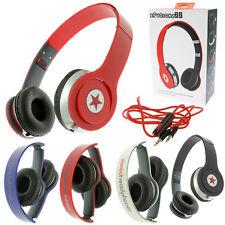 STEREO HEADPHONES DJ STYLE FOLDABLE HEADSET EARPHONE OVER EAR MP3/4 IPOD 3.5MM