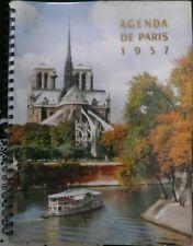 RARE Agenda Paris 1957 Molinard Doisneau Goursal Nicolas Pougnet Foucault VIERGE