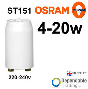 1x OSRAM BRANDED 4-20w SERIES FLUORESCENT STARTER (ST121) Osram 4050300012803