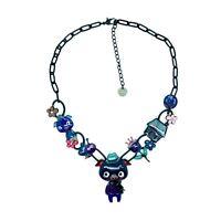 Collier LOL Bijoux Les trois petits cochons CoLOL013-bleu LOLILOTA