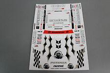 RC Car Truck RACING Drift POTENZA D1 GRAND PRIX FACEWORX Decals Logos Sponsors