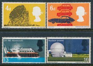 GB 1966 BRITISH TECHNOLOGY (PHOS) SET OF 4 FINE MINT MNH SG701p-SG704p