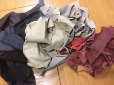 5 pound Upholstery Cow Hide Scrap Leather Pieces, Mixed Colors and Weights (28)
