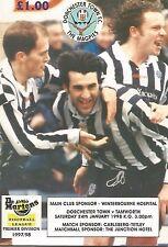 Football Programme - Dorchester Town v Tamworth - Dr. Martens League - 24/1/1998
