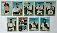 DETROIT TIGERS 2019 Topps Heritage BASE TEAM SET (9 Cards) Christin Stewart RC+