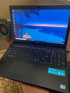 """Black Sony SVS1512EPXB 15.5"""" i7 w/ 8 GB RAM w/ 1 TB HDD Laptop"""