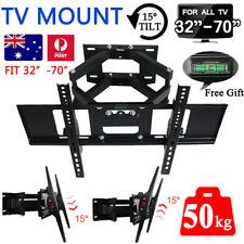 TV Wall Mount Bracket Full Motion Tilt Swivel Pivot 32 40 43 50 55 60 65 70 Inch