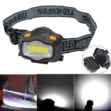 12 COB LED 3 Modes Headlight Head Lamp Torch Outdoor Fishing Camping Riding AAA