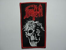 DEATH RED BORDER  EMBROIDERED PATCH
