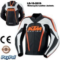 KTM Motorbike Motorcycle Rider  racing motogp men new Leather  Jacket LD-19-2019