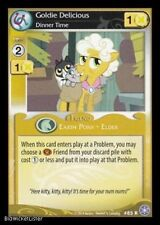 MY LITTLE PONY MLP CCG CRYSTAL GAMES : RARE Goldie Delicious, Dinner 85R X 3
