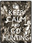 Girl Camo Keep Calm and Go Hunting Crown Funny Metal Parking Sign Wall Art