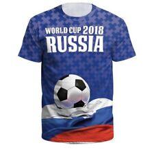World Cup Shirt Russia Small-3Xl Xxl Unisex Men Women Soccer 2018 Football Blue