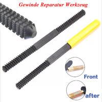 Thread Repair File Set Thread Restoring Thread Teeth Single Cut Square Shape