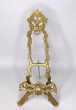 Vintage Brass Victorian Ornate Easel Picture Painting Art Book Stand Display EUC
