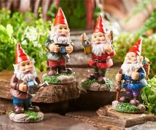 Miniature Dollhouse FAIRY GARDEN - Adventurous Gnomes - Set of 4 - Accessories