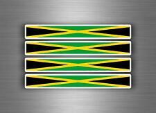 4x sticker decal car stripe motorcycle racing flag bike moto tuning jamaica