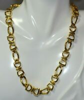 """Vintage Signed Paolo Gucci Horse Bit Gold Tone 15 1/2"""" Chain Necklace 12F 96"""