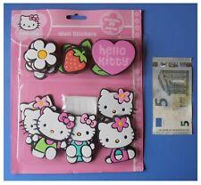 Hello Kitty, 20 wall sticker Sanrio grandi e spessi gatto fiore fragola cuore