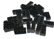 200 Black block, Compatible to Lego 2x4 Brick 3001, build starwar minecraft city
