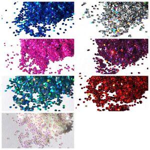 Craft HEXAGON GLITTER 1mm Iridescent & Rainbow Holographic Sparkling Glitter