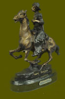 American Bronze Trooper of The Plains Solid Bronze Figurine by F. Remington SALE
