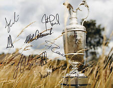 MARK O'MEARA SIGNED AUTOGRAPH 11X14 PHOTO BRITISH OPEN CHAMPIONS CINK CURTIS +6