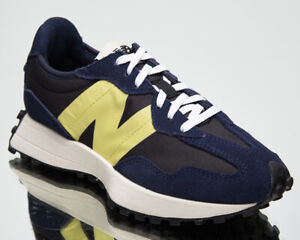 New Balance 327 Women's Navy Yellow Athletic Casual Lifestyle Sneakers Shoes