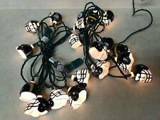 Vintage Pittsburgh Steelers NFL String of (20) Helmet Lights Patio Christmas EUC