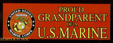 TWO PROUD GRANDPARENT OF A US MARINE BUMPER STICKER MADE IN US PIN UP MR BM112