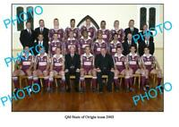 8x6 PHOTO 2003 QLD STATE OF ORIGIN SERIES TEAM PHOTO