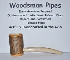 F42 American Frontiersman Woodsman Hickory Tobacco Pipe Handcrafted in the USA