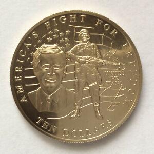 2002 Republic of Liberia Fight for Freedom $10 Copper-Nickel Coin A5659