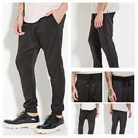 Mens FOREVER 21 Jogger Pants Urban Hip Hop Fashion Casual Drop Crotch Sweatpants