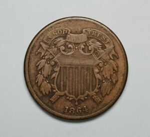 1864 Two Cents Piece - 172699A