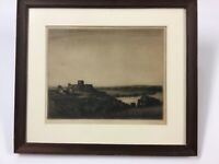 Albany E. Howarth Etching Chateau Gaillard Ca. 1920