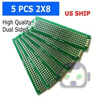 5pc 2x8 cm Double Side DIY Prototype Circuit Breadboard PCB Universal Board (G)