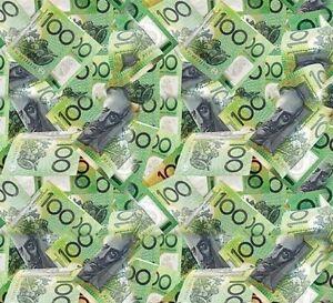 Australian 100 Dollars Hydrographics water transfer Printing Film