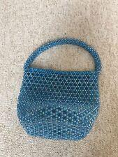 vintage Bead Bag Teal Turquoise